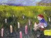 Die kleine Pilzsammlerin, 1986, Acryl auf Leinwand, 65 x 100 cm
