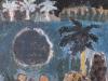 Urwald mit See, 1963, Öl auf Hartfaser, 40 x 34cm