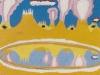 Bergmelkwerk, 1965, Ölkreide auf Büttenpapier, 30 x 40 cm