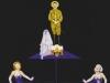 Die Mystige Hochzeit - Dolfis Verkelärung, 1991, Acryl auf Leinwand, 150 x 110 cm