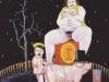 Aus der Tiefe des Raumes, in der Stille der Nacht - Moonlight-Serenade, 1991, Acryl auf Leinwand, 150 x 110 cm
