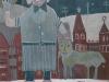 Der Katzenbändiger, 1958, Eitempera auf Hartfaser, 124 x 104cm
