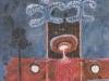 Todesengel mit zwei Unbekannten, 1985, 32 x 25,5 cm, Tempera a. Papier