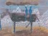 Königlicher Ausritt in Berchtesgaden, 1985, 29,5 x 35 cm, Tempera a. Papier