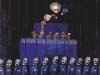 Der Bad Ausschwitzer Kinderchor singt Lieder zur deutschen Weihnacht am Denkmal zur teu(t)schen Eintracht in Originalkostümen, 1993, Acryl auf Leinwand, 100 x 80 cm