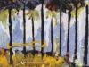 ObAcht im Walde, 1993, Acryl auf Leinwand, 40 x 50 cm