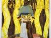 Endlich Hoch-Zeit auf dem Boden der westlichen Wertegemeinschaft, 1990, Acryl auf Glas, 120 x 110 cm