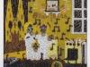 Ehre sei Gott in der Höhe, Blah, Blah (Die Hillich Famillich), 1990, Acryl auf Glas, 120 x 110 cm