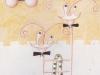 Der Auftritt, 1972, Buntstift auf Papier, 30 x 22 cm