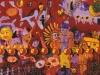 Kölsche Expressionen zur Weihnachtszeit, 1986, Acryl auf Leinwand, 150 x 100 cm