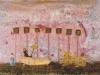 Das Samstagbad in der Waschküche mit Mutters Peep-Schau, 1986, 24 x 33,5 cm, Tempera a. Karton