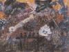 Zwischen Abend- und Morgen-Grauen, 1987, 38 x 50 cm, Acryl auf Karton