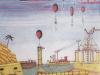 Die Wahrheit über Atlantis, 1974, Tempera auf Papier, 39 x 29,5 cm