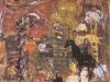 Ländliche Idylle mit Vogelscheuche und Punker, 1987, Acryl auf Karton, 41 x 39 cm
