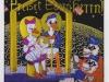 Preiset Euern Herrn! (Christologie), 1990, Acryl auf Glas, 120 x 110 cm