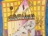 Blick nicht zurück, 1974, Tusche, Buntstift auf Papier, 32 x 25 cm