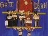 Großer Gott Wir Preisen Dich, 1990, Acryl auf Glas, 30 x 21 cm