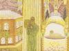 Die Sänger am gläsernen Meer. Offenb. Johannes 15.9-6, 1978, Tusche u. Buntstift a. Papier, 39 x 29,5 cm