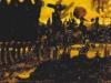Abendtreffen an der Lichtung - Harry's Abschied, 1997, Acryl auf Leinwand, 30 x 40 cm