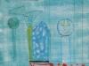 Ein kalter Wind zieht durch meine Glas-Menagerie, 1988, Acryl auf Karton, 32 x 25 cm