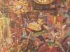 Das Rätsel des Phönix oder: Komm auf die Schaukel Luise, 1988, Öl auf Leinwand, 200 x 150 cm