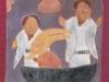 Engel mit Bergziege, 1961, Öl auf Hartfaser, 93 x 56 cm