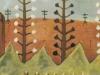 Lupinenbild, 1960, Eitempera auf Hartfaser, 56 x 43 cm