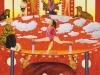 """Der Kleinen großes """"Vaterunser"""", 1993, Acryl auf Leinwand, 250 x 150 cm"""