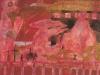Am Moritzberg scheiden sich die Geister, 1988, Acryl auf Karton, 59 x 69,5 cm