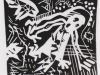 Angst, 1956, Linolschnitt, 13,4 x 13,2 cm