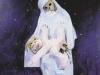 Wenn ich groß bin liebe Mutter, Dann sollst Du im Sessel ruh'n Ich will dann die Arbeit tun. 1985, 150x100 cm, Relief a. versch. Mat. Acryl