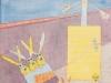 Der Wegweiser für die 90er, 1990, Aquarell, 31 x 23 cm