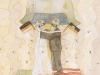 Endlich frei auf dem Boden der westlichen Wertgemeinschaft, 1990 Aquarell, 31 x 23 cm