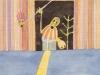 Einläuten der letzten Dekade, 1989, Aquarell, 31 x 23 cm