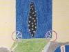 Keimlinge an der Halde, 1989, Ölkreide, Buntstift auf Papier, 38 x 28 cm