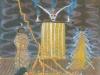 Der einsame Tod des Schamanen Eddi, 1982, Tempera auf Papier, 32 x 25,5 cm