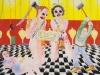 Überraschung am Rosenmontag (Die Rache der Kinder), 1981, Tempera auf Hartfaser, 137 x 152,5 cm