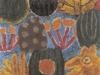 Urwald mit Haase, 1963, Öl auf Hartfaser, 48 x 39 cm