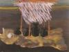 Ein Fisch kommt nicht mehr zurück ins Wasser, 1982, Tempera auf Papier, 25,5 x 32 cm
